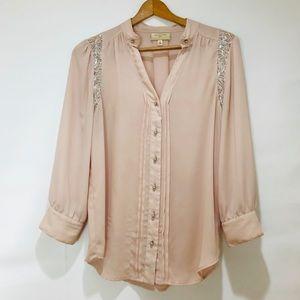 Moulinette Soéurs Blush Pink and Silver Top
